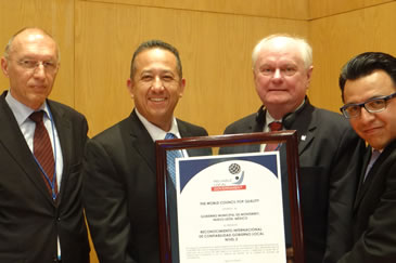 Aguascalientes and Monterrey municipalities receive International Reliability Recognition